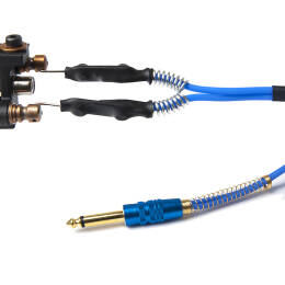 Kabel silikonowy HQ blue