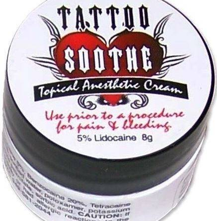 Tattoo Soothe Cream Topical Anesthetic 8g Jar