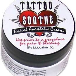 Tattoo Soothe Cream Topical Anesthetic - 8g Jar