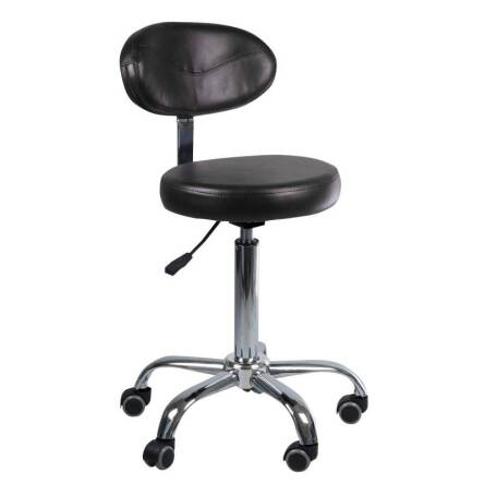 Stool with backrest