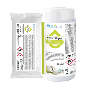 Velox Wipes -  Alcohol wipes for cleaning and rapid disinfection